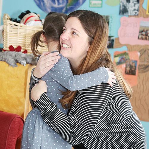 spv hugging child